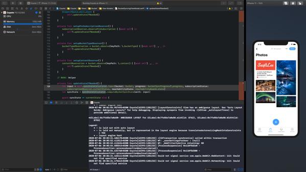 Xcode simulator full screen mode